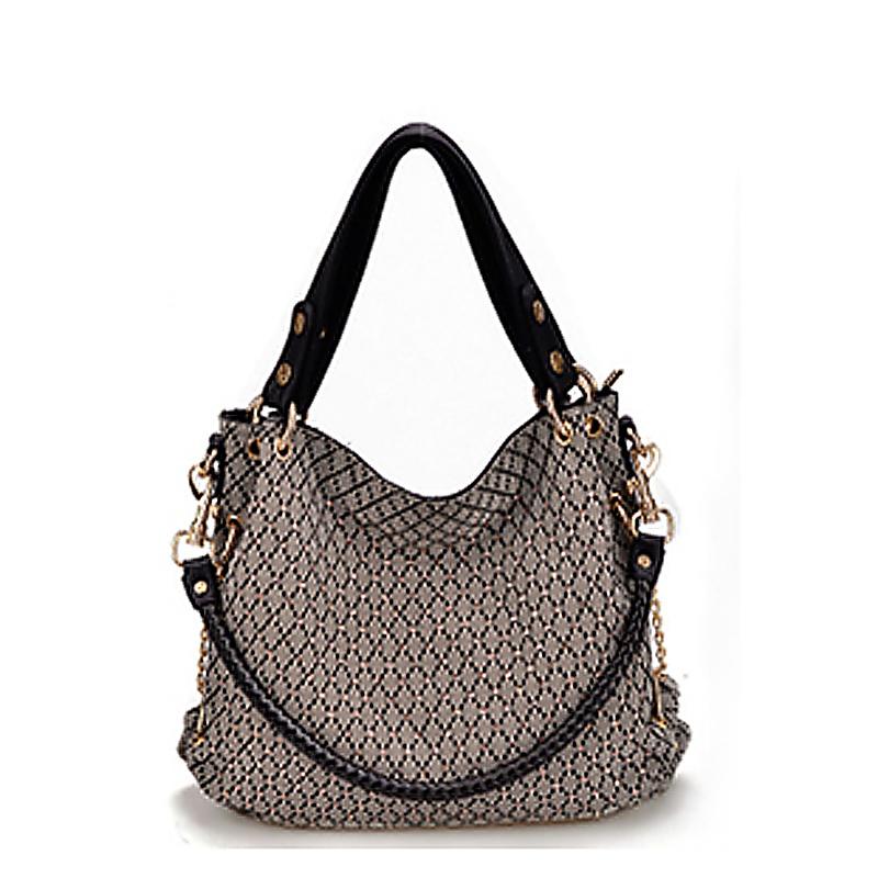 New 2016 Travel Women's Genuine Leather and Canvas Handbag,Designer Brands Tote ,High Quality Messenger Bag Fashion Shoulder Bag(China (Mainland))