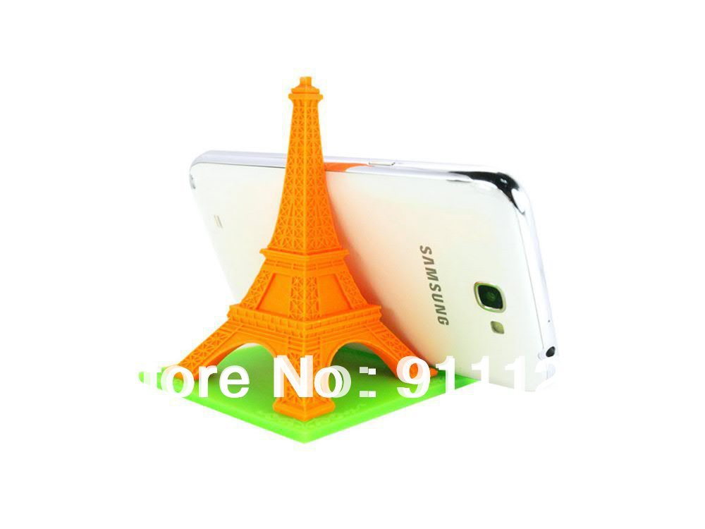 1pc Novelty Eiffel Tower smart phone stand Silicone shape Support Holder Eco-friendly Pad - GUANGZHOU FHY CO.,LTD store