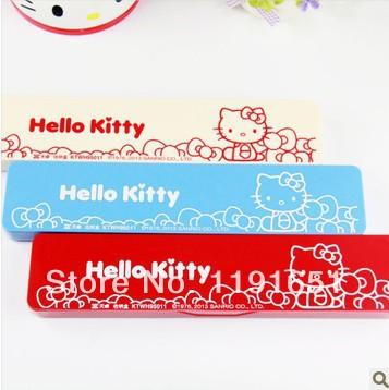 High quality Hello Kitty Children School Kids Girls  table   plastic pencil box pen case Bag Free shipping 12pcs/lot <br><br>Aliexpress
