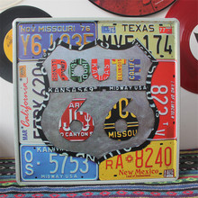 Buy Route 66 Vintage Metal Sign 30*30 Shabby Chic Tin Signs Cafe Bar Pub Vintage Retro metal plate Home Decor for $14.25 in AliExpress store