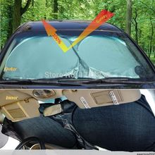 Auto Front Rear Window Sun Shade Car Windshield Visor Cover Block Sunshade Foldable cover(China (Mainland))