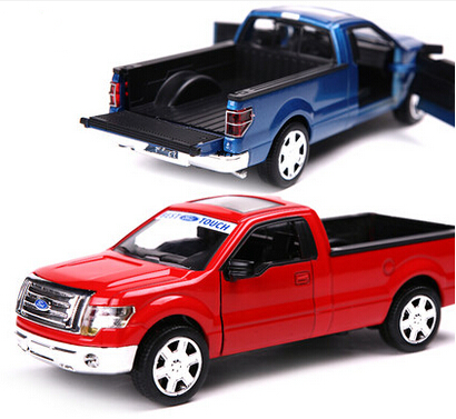 MZ 2015 New Brand Discount Alloy Car Toy Famous Ford F150 Pickup Truck Model Kids Educational Acoustooptical Toys Free Shipping(China (Mainland))