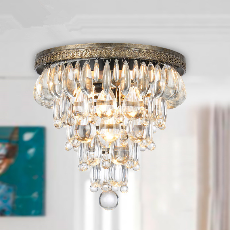 round iron ceiling plate light with crystal decorative lamp 10001<br><br>Aliexpress