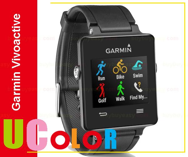 Genuine New Garmin Vivoactive Triathlon With Heart Rate Monitor Smart Watch Black GPS Sports Swim(Hong Kong)