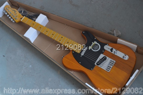Wholesale - EMS Shipping arrival F TELE solid body yellow Guitars TELE Natural wood Electric Guitar in stock(China (Mainland))
