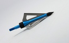 100 Grain Fixed Three Blade Broadheads 12 Per Pack Compatible with Crossbow and Compound Bow Blue