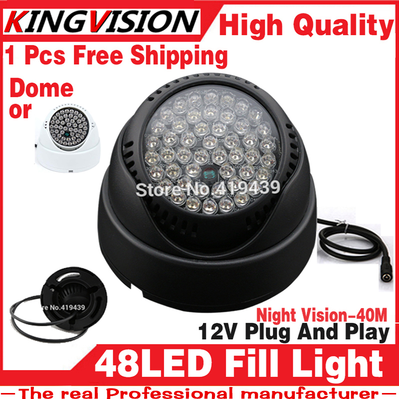 2016Sale! 48LED Illuminator IR Infrared dome CCTV camera Night light Vision 40M Lamp Securit 48LEDs 850nm 12V free shipping(China (Mainland))