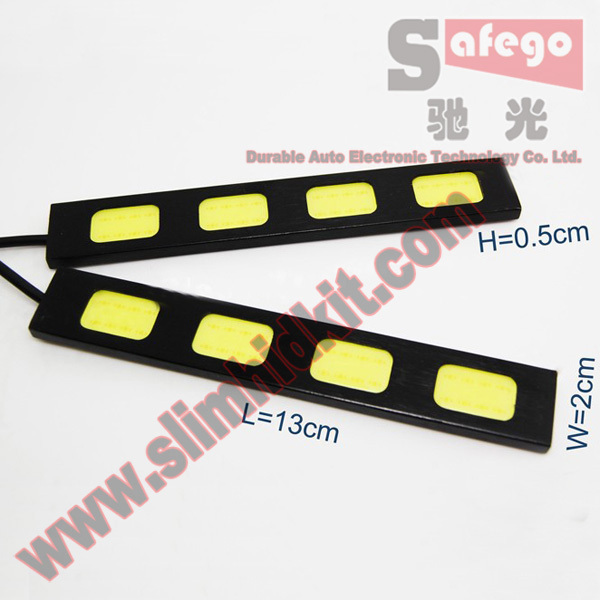 2 pcs cob led 12v 24w 280-300LM led cob strip Aluminum Alloy + Cob Led 140g white High power cob led panel 3.0W/pcs *4 * 2(China (Mainland))