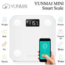 premium Original YUNMAI mini smart bathroom body weighing scale mi digital scale support Android4.3 IOS7.0 Bluetooth 4.0(China (Mainland))