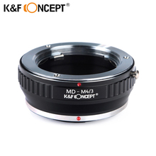Buy K&F CONCEPT MD-M4/3 Lens Mount Adapter Ring Minolta MD Mount Lens Micro 4/3 Mount Camera Body free for $21.19 in AliExpress store