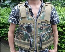 Genuine arrival  Lifejacket folding adult professional dual multifunctional life vest fishing vest incubation Life jacket(China (Mainland))