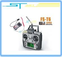 Freeshipping FS FlySky FS-T6/FS T6 2.4G Digital Proportional 6 Channels ch Transmitter & Receiver W/ LED Screen