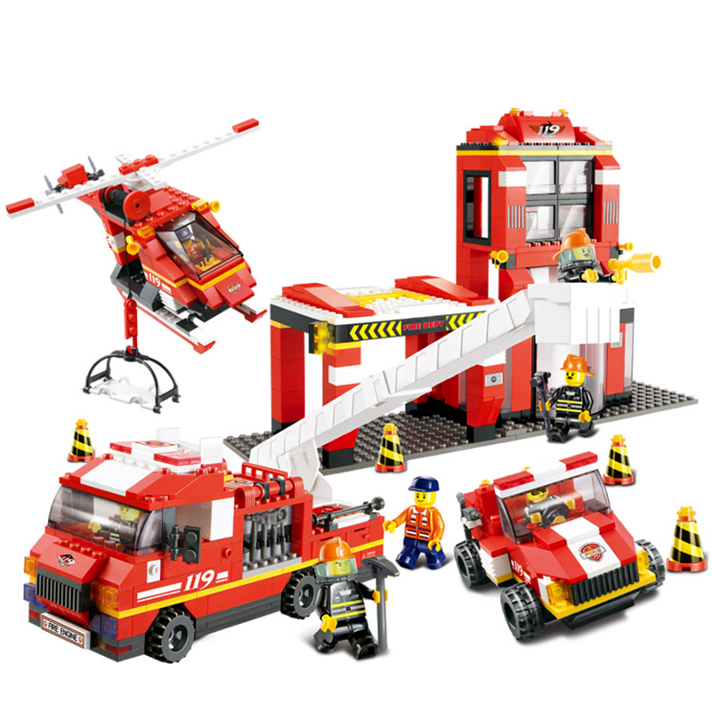 Joyer City Firefighter Mass Dispatch Building Blocks&amp;Bricks Toys Boy Game Model Compatible with LEGOB0227 Gift Wholesale In Box<br><br>Aliexpress
