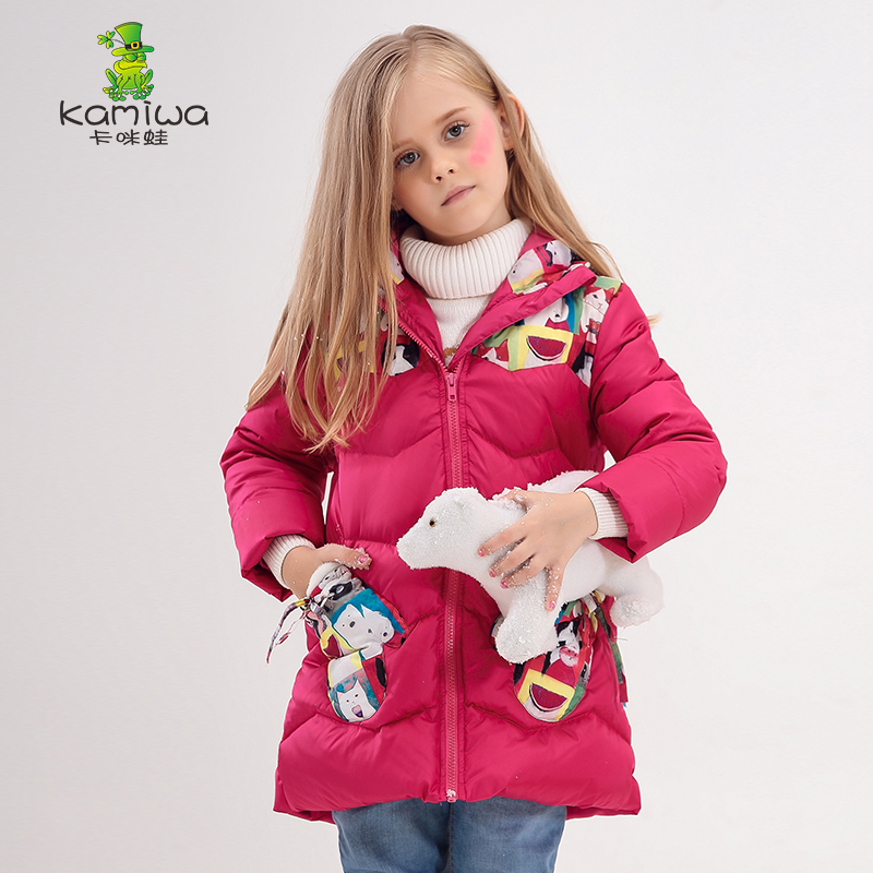 2015 Cat Printing Girls Winter Coats And Jackets Kids Outwear Warm Down Jacket Girls Clothes Parkas Children Baby Girls Clothing<br><br>Aliexpress