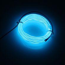 IMC 2M Light Green Flash Flexible Neon Light Glow El Strip Tube Wire+Battery Case UK(China (Mainland))