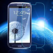 0.3mm Tempered Glass for Samsung Galaxy S3 9H Hard 2.5D Arc Edge Round Border Front Screen Protector(China (Mainland))