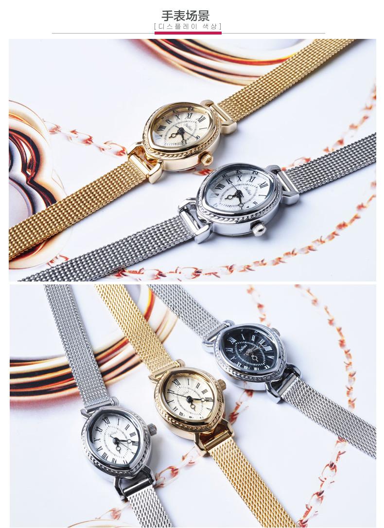 Лучшие женщины женские наручные часы япония кварцевых часов лучший мода браслет группа кожа часы овальный ретро подарков юлий JA-567