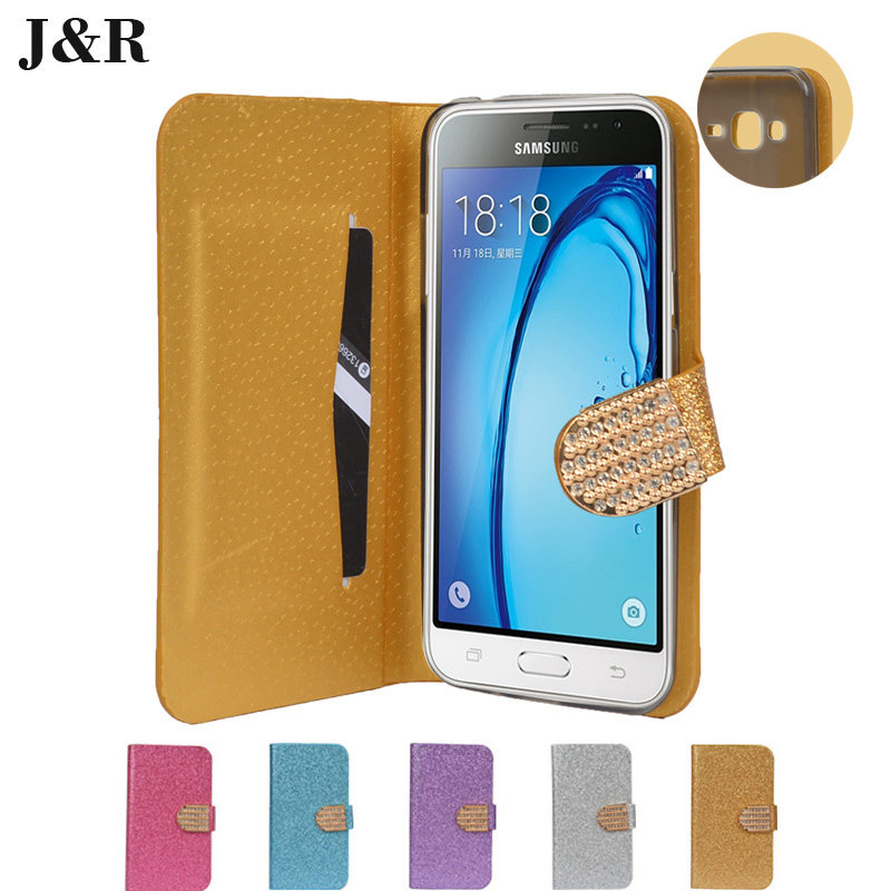 Case For Samsung j320 j320F flip cover For Samsung galaxy j3 2016 sm-j320f Phone Coque fundas Bling Pouch Flip Leather(China (Mainland))