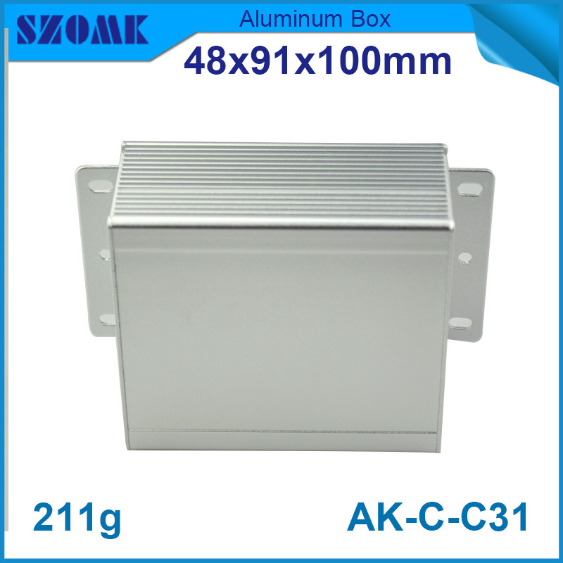 wall mounting junction case box aluminium control enclosure 48*91*100mm - Asia Quality Enclosure store