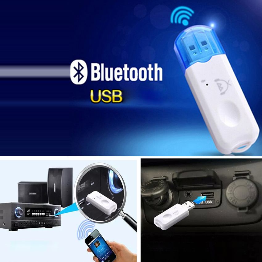 store product New Car Wireless USB Bluetooth Adapter Music Call Audio Receiver Handsfree