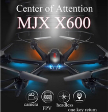 Big Guy! MJX X600 RC Quacopter 2.4G 6-axis 4CH RC helicopter drone can add C4005 FPV Wifi camera VS Syma X5SW CX-30W x400-1