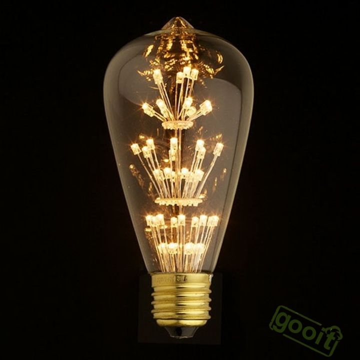 Buy Antique Retro Vintage Edison Light Bulb E27 220v 3w Incandescent Light