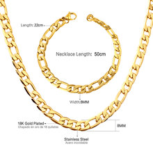LUXUKISSKIDS מפעל מחיר למעלה נירוסטה תכשיטי זהב צבע drop תכשיטי שרשרת צמיד סטים(China)