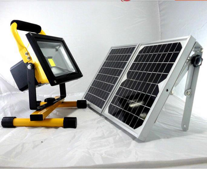 20W Rechargeable Solar LED Spot Bulb Lights Solar Power Outdoor LED Lighting Portable LED Camping Lamps Wall Lights(China (Mainland))
