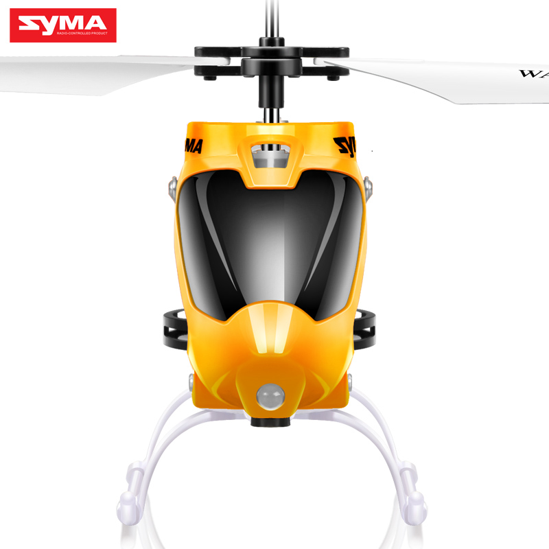 Original Syma Entry Level RC Helicopter Alloy Body Anti-Shock Remote Control UAV with 6-Axis Gyro Led Flashing Toy for Children(China (Mainland))
