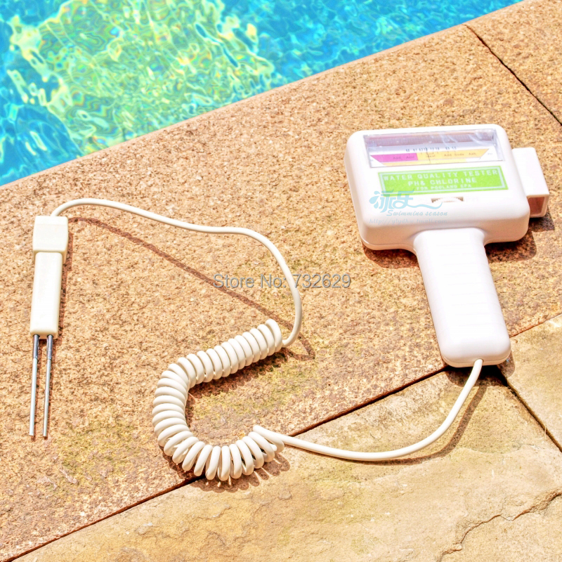 Swimming pool accessories high quality tester ABS spa pool ph cl2digital tester easy to read 1pcs free shipping chlorine tester(China (Mainland))