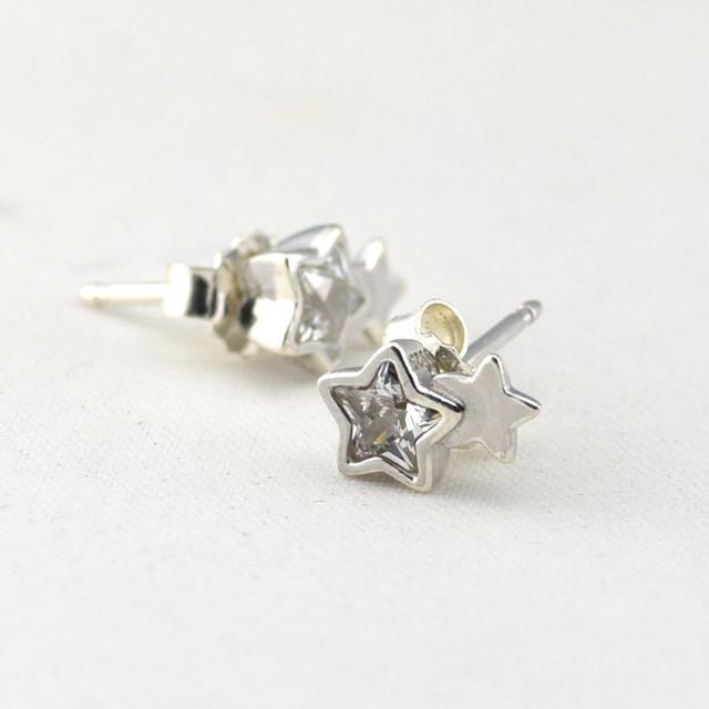 Твин стар серьги с камнями новый стерлингового серебра 925 серьги женские гипоаллергенные мода DIY ювелирных аксессуаров