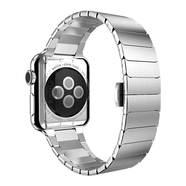 Здесь можно купить  Luxury High quality 316L Stainless Steel Butterfly Clasp Strap Link Bracelet  For Apple Watch 38mm 42mm band Watchband  Ювелирные изделия и часы