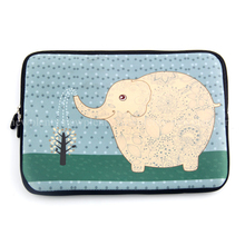 "Cute Elephant 17"" 17.3 17.4"" Laptop Bag Notebook Case Cover Sleeve Stylish Neoprene Zipper Pouch Waterproof two side printed(China (Mainland))"