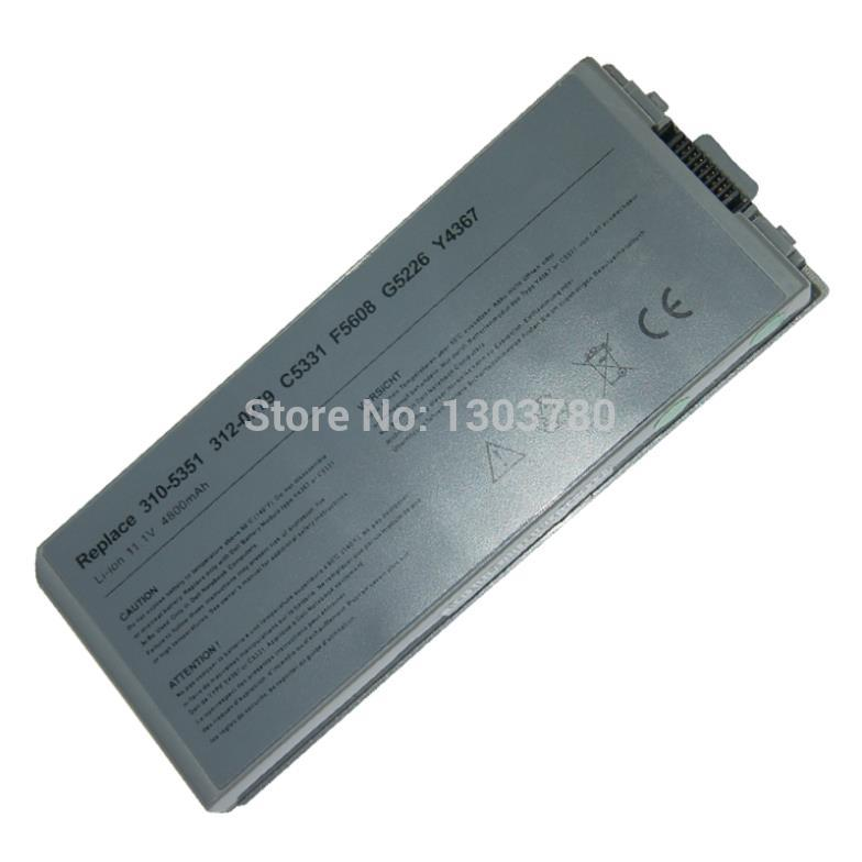 4400mah 11.1v Laptop Battery For Dell Latitude D810 Precision M70 310-5351 312-0279 C5331 C5340 D5505 D5540 F5608 G5226 Y4367(China (Mainland))
