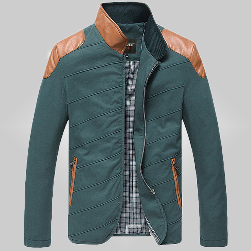 free shipping mens jackets cotton outwear men's coats casual fit style jacket Men bark collar stitching casual 100(China (Mainland))