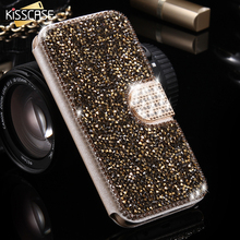 Buy KISSCASE Diamond Phone Cases Samsung Galaxy S7 edge Luxury Leather Bling Glitter Stand Wallet Cover Case Galaxy S7 edge for $6.99 in AliExpress store