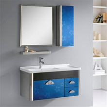 modern bule small bathroom hung cabinet(China (Mainland))