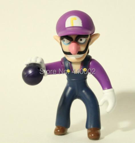 "DHL 100pcs Super Mario Brother Figure Toy retail 4"" inch 10cm WALUIGI(China (Mainland))"
