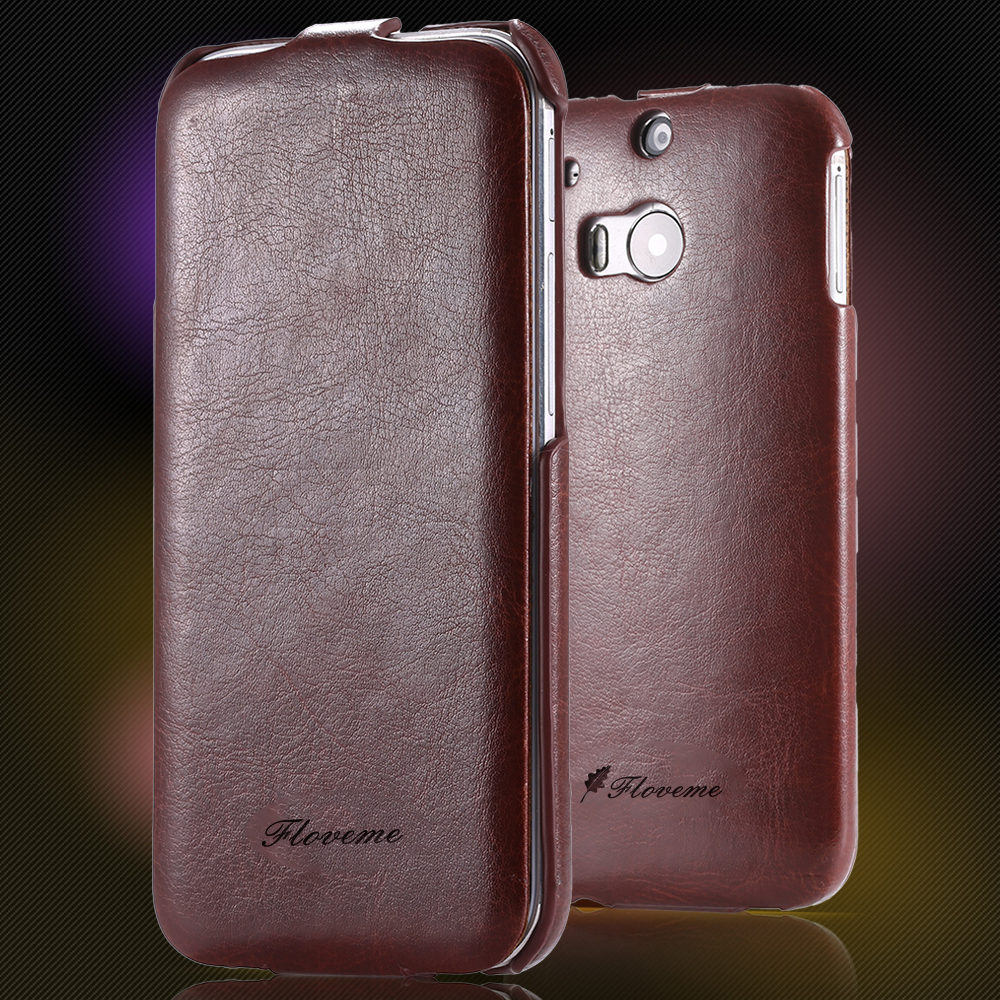M8 Fashion Crazy Horse Skin PU Leather Case For HTC One M8 Ultra Thin Flip Shockproof Phone Cover Bag For HTC M8 1pcs/lot Retail(China (Mainland))