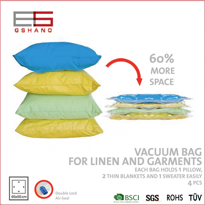 1 Lot 10Pcs Vacuum Bag for Clothes Transparent Folding Extra Large Compressed Organizer Storage Bag Saving Space Seal Bags(China (Mainland))