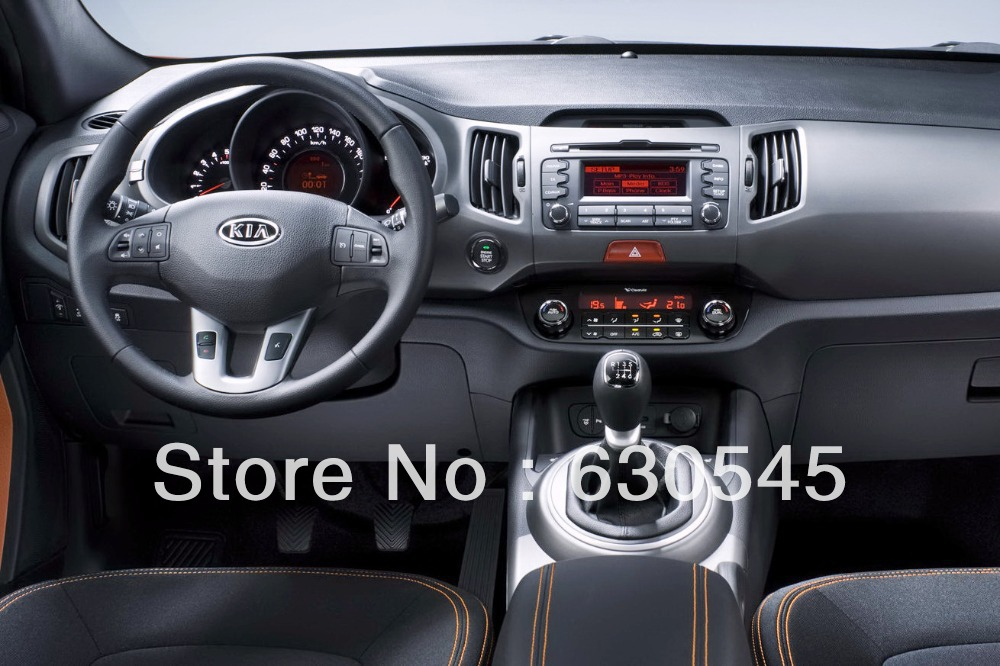 8 inch Auto Car DVD Player GPS Navigation Kia Sportage 2010-2012 CAN Bus TV BT Map SWC USB AUX Audio Video Stereo Bluetooth - Indash store