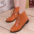 2015 Brand Women Autumn Ankle High Heels Boots Women's Shoes Botines