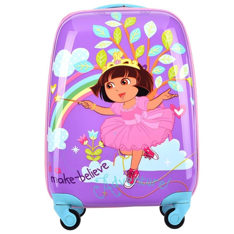 18'' Dora,Hello kitty,Spider,Princess Elsa,Robot cartoon child trolley luggage travel bag luggage men and women bags(China (Mainland))