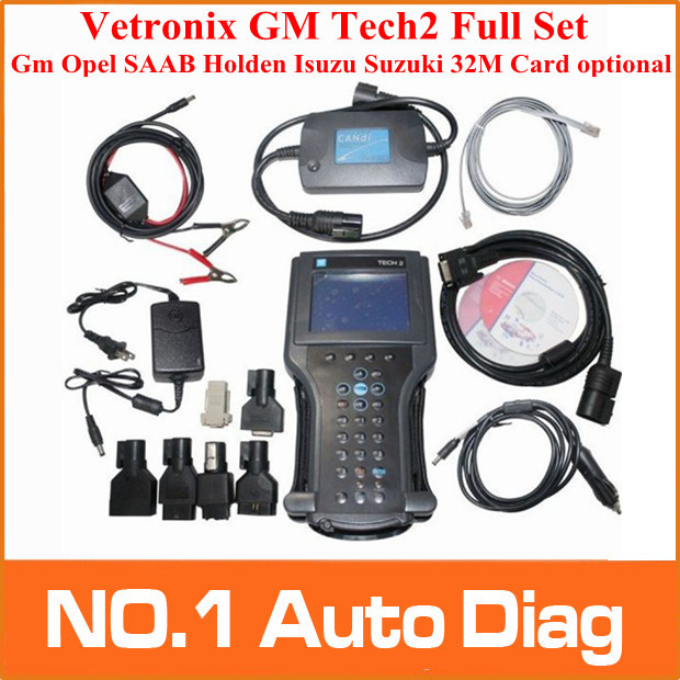 2015 DHL free GM TECH2 diagnostic tool (GM,OPEL,SAAB ISUZU,SUZUKI HOLDEN) Vetronix gm tech 2 scanner Without black plastic box(China (Mainland))