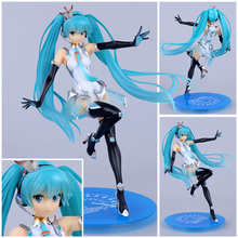 Gsc for rac ing automobile race hand-done miku automobile race lady hand-done model(China (Mainland))