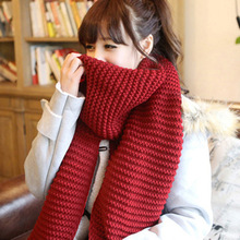 winter womens scarves and wraps red cashmere knitted scarf for women italian large big scarf(China (Mainland))