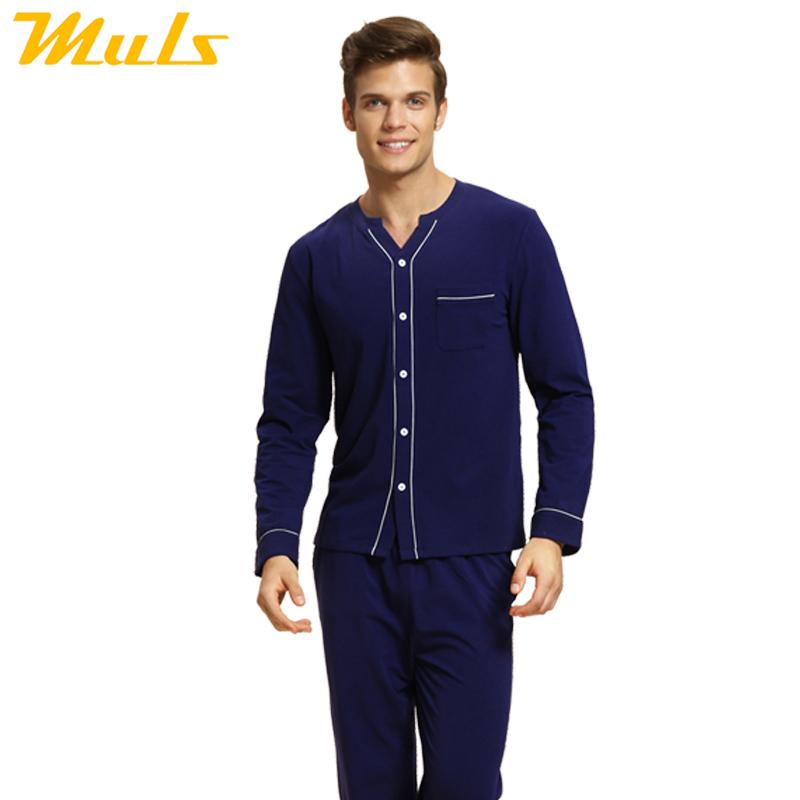 beautiful pyjamas mens set clothes homewear couple long sleeved V ...