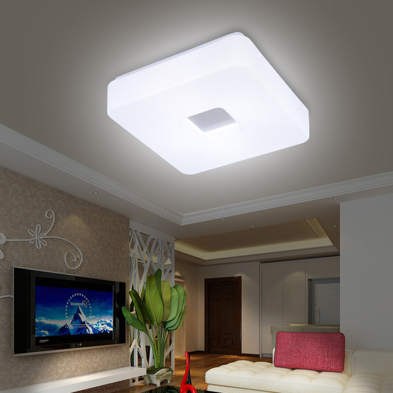 Free Shipping Modern Led Flush Mount Surface Mounted Square Shape LED Ceiling