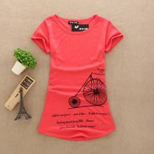 New fashion summer Women top short-sleeve printed letters casual brand t shirt T-shirts tops Female Pure cotton 9320(China (Mainland))