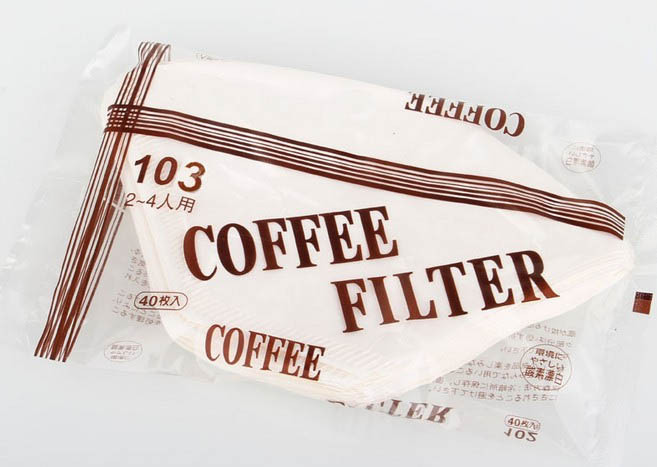No.103 Coffee Filter Paper bags, for 2-4 persons American Coffee Machine, Imported filter paper, 40pcs/bag(China (Mainland))